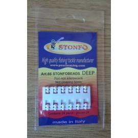 Perlas Stonfo Perforadas en cruz BLANCAS 3,3 mm