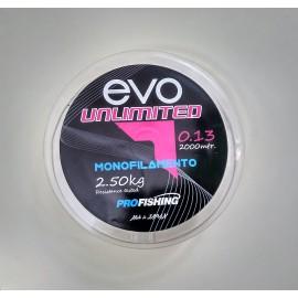 Hilo Monofilamento EVO Unlimited 2000 Mts.