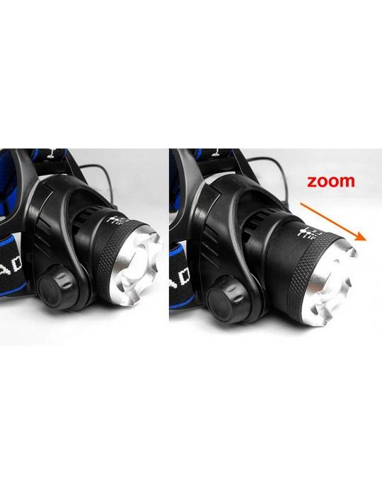 Linterna Frontal - RECARGABLE -  1200 LM