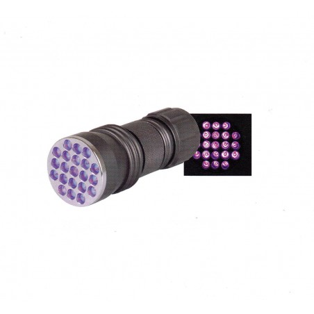 Linterna Aluminio 21 Led - Luz UV