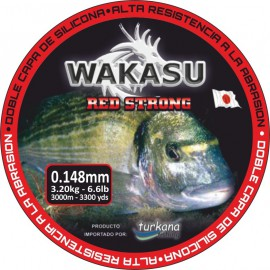 Nylon Turkana WAKASU Red Strong - 1000 Mts.