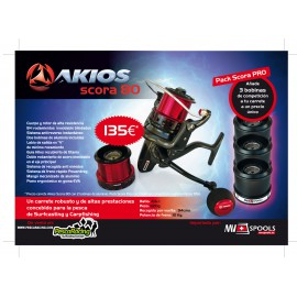 AKIOS Scora 80 ( PACK PRO ) + 3 BOBINAS AKS