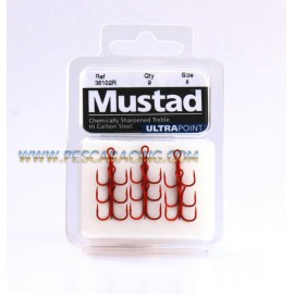 Anzuelos Triples MUSTAD Ultra Point Nº 8