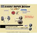 Carro  de Pesca La Toure  - Super Beach GLOBE